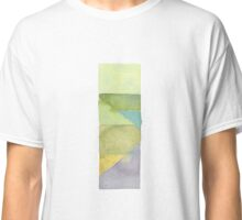 green watercolor stack Classic T-Shirt