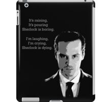 Sherlock Holmes Moriarty  iPad Case/Skin