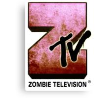 Zombie TV Canvas Print