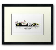 Jenson Button - Brawn BGP001 - Brazil Framed Print