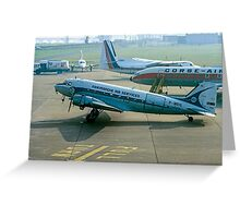 Douglas DC-3 F-BEIG Greeting Card