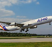 Airbus A340-311 F-WWAI taking off by Colin Smedley