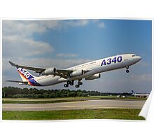 Airbus A340-311 F-WWAI taking off Poster