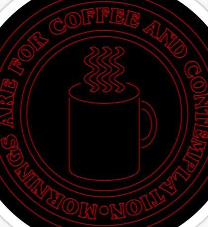 Coffee And Contemplation Sticker Sticker