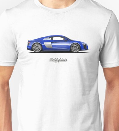 Audi R8 (blue) Unisex T-Shirt