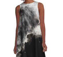 Omega/Swan Nebula - Charcoal A-Line Dress