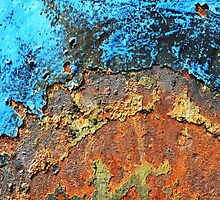 Rusted Turquoise Steel by junkydotcom