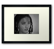 Photo-realistic Pencil Drawing Framed Print