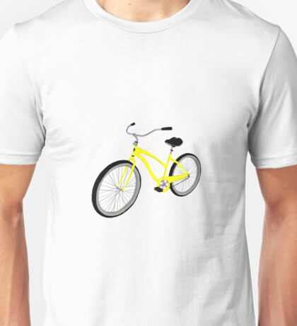 Yellow Bicycle  Unisex T-Shirt