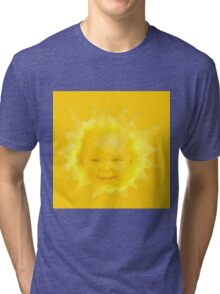 Poorly Cropped Sun-Baby From Teletubbies Tri-blend T-Shirt