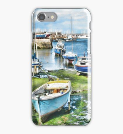 Waiting for high tide iPhone Case/Skin