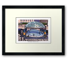 Robson Square Ice Rink Framed Print
