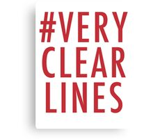 #Very Clear Lines Canvas Print