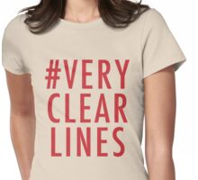 #Very Clear Lines Womens Fitted T-Shirt