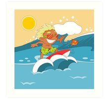 Non Olympic Sports: Surfing Art Print