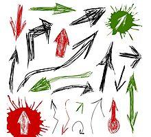 Arrow drawing Photographic Print