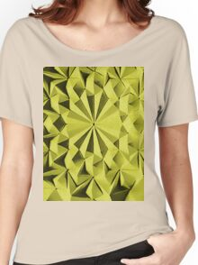 Yellow fractals pattern, tiled Women's Relaxed Fit T-Shirt