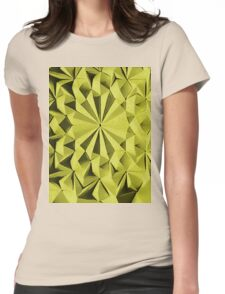 Yellow fractals pattern, tiled Womens Fitted T-Shirt