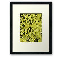 Yellow fractals pattern, tiled Framed Print