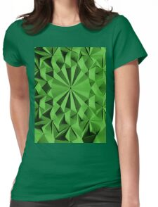 Green fractals pattern, tiled Womens Fitted T-Shirt