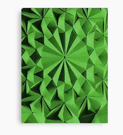 Green fractals pattern, tiled Canvas Print