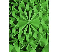 Green fractals pattern, tiled Photographic Print