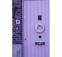 Violet Door - Travel Photography Photographic Print