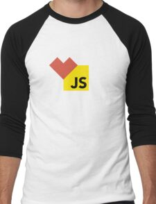 I love Javascript on white Men's Baseball ¾ T-Shirt