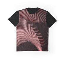 Red waves, line art, curves, abstract pattern Graphic T-Shirt