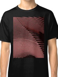 Red waves, line art, curves, abstract pattern Classic T-Shirt