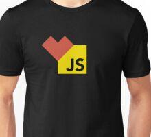 I love Javascript on black Unisex T-Shirt