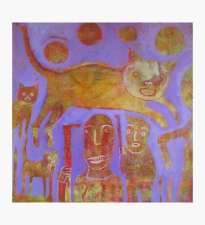 Orange Cat Hunt Photographic Print