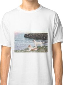 beach view with two dogs Classic T-Shirt