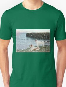 beach view with two dogs Unisex T-Shirt