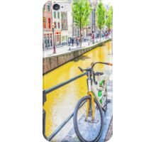 Bicycle and canal in Amsterdam iPhone Case/Skin