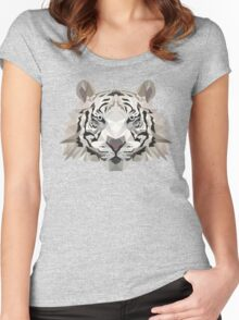 Animal Tiger Low Poly Women's Fitted Scoop T-Shirt