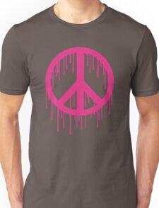 Pink Trendy modern Graffiti style Peace Unisex T-Shirt