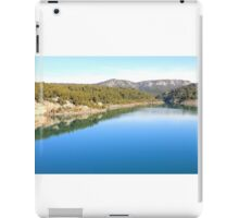 Mountain landscape with blue river, in Provence, France iPad Case/Skin