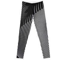 Gray waves, line art, curves, abstract pattern Leggings