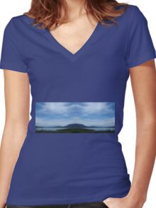 Clouds over Glenbawn Women's Fitted V-Neck T-Shirt