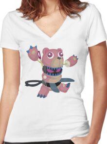 Frightfur Bear - Yu-Gi-Oh! Women's Fitted V-Neck T-Shirt