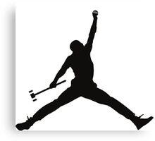Croquet Jump Man Canvas Print