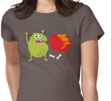Fire Monster Womens Fitted T-Shirt
