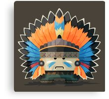 Illustration of an American Indian in the wild west Canvas Print