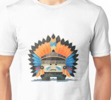 Illustration of an American Indian in the wild west Unisex T-Shirt