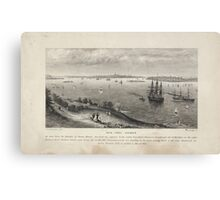 360 New York Harbor as seen from the heights of Staten Island Canvas Print