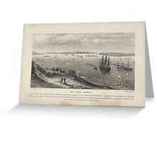 360 New York Harbor as seen from the heights of Staten Island Greeting Card