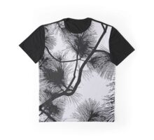 Desert flora, abstract pattern, floral design, black and white Graphic T-Shirt