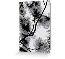 Desert flora, abstract pattern, floral design, black and white Greeting Card