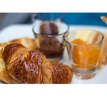Delicious Croissant/Breakfast Photographic Print